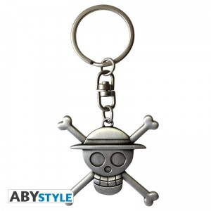 ONE PIECE Brelok do kluczy 3D Skull Luffy